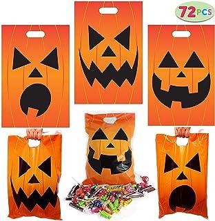 72 Pieces Halloween Jack O Lantern Trick Or Treat Bags for Trick-or-Treating, Halloween Party Favors, Halloween Snacks, Ev...