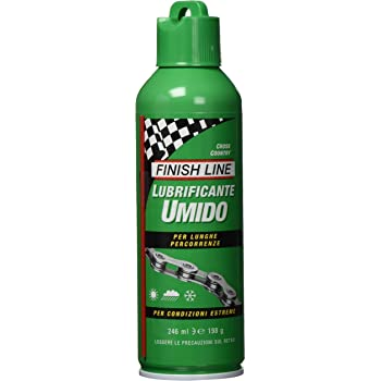 Amazon Com Finish Line Wet Bicycle Chain Lube 8 Ounce Aerosol