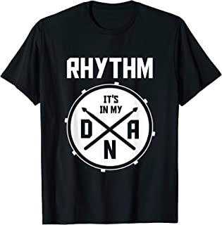 Drummer DNA Rhythm Percussion Marching Band Gifts Drums T-Shirt