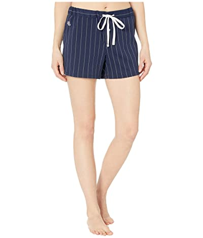 LAUREN Ralph Lauren Cotton Polyester Jersey Separate Boxer Shorts (Navy Stripe) Women
