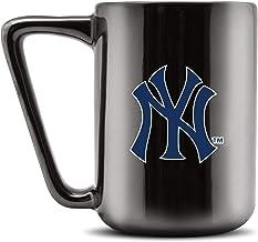 Duck House MLB NEW YORK YANKEES Ceramic Coffee Mug - Metallic Black, 16oz