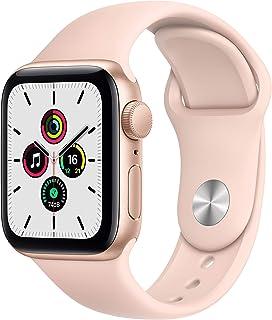 AppleWatch SE (GPS, 40 mm) Caja de aluminio en oro - Correa deportiva rosa arena