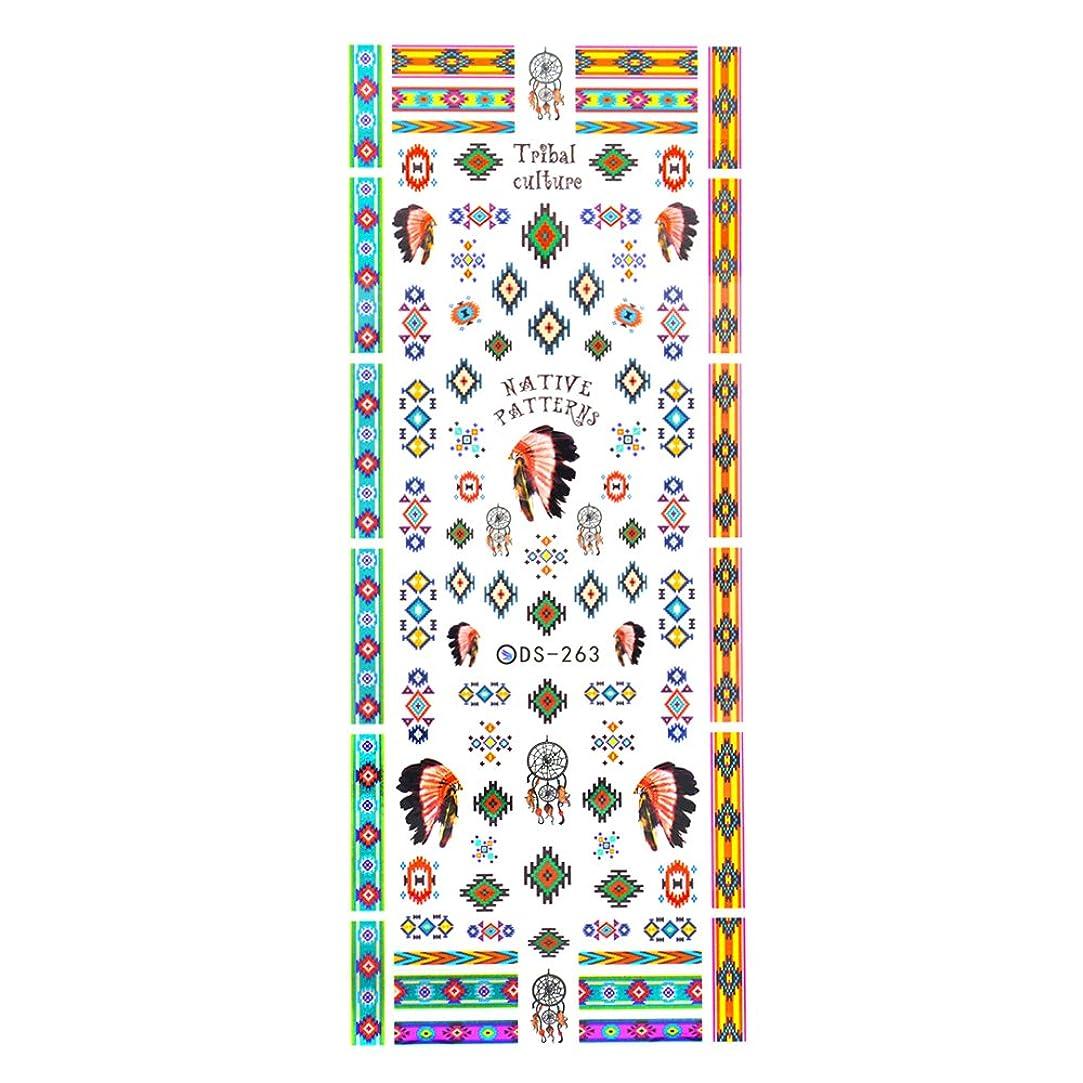 杖敬な難民【DS-263】カラフルインディアン ネイルシール