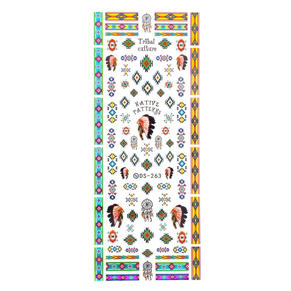 日の出切手クリア【DS-263】カラフルインディアン ネイルシール