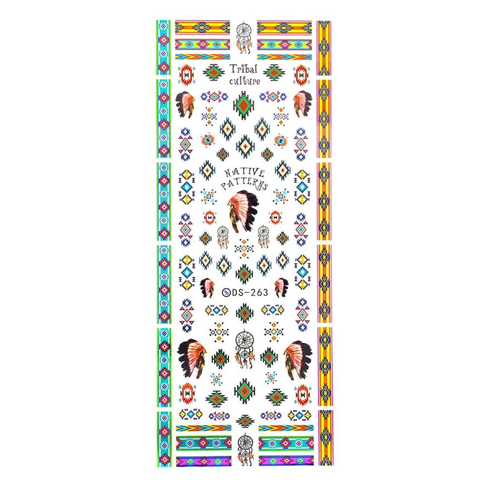 忠実にプレビューリマ【DS-263】カラフルインディアン ネイルシール