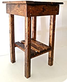 Rustic End Table/Night Stand/Bed Side Table/Rustic Table/ Aged/Side Table/Vintage/Wood//Handmade/Custom/New Materials/Farmhouse