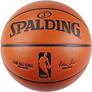 SPALDING斯伯丁篮球 室内室外蓝球 PU材质 NBA职?#24403;?#36187;用球 74-570Y