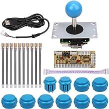Mopei Kit de Joystick Arcade, Joysticks para Juego de Arcade Cero Retardo del Juego de Arcada USB Codificador PC Joystick Controlador Kit de Bricolaje para Mame Jamma y otras PC Juegos(Azul)