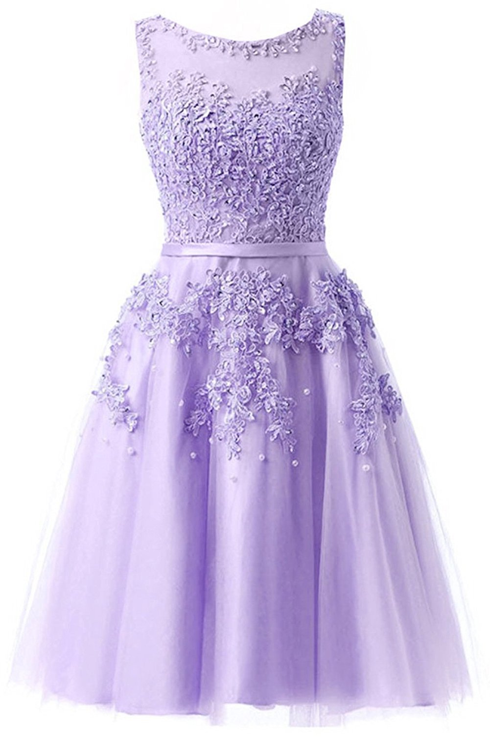 Available at Amazon: Ever Girl Women's Knee Length Tulle Lace Appliques Hollow Homecoming Dress