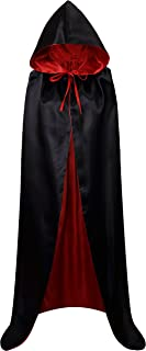 Unisex Christmas Halloween Witch Party Reversible Hooded Adult Vampires Cape Cloak