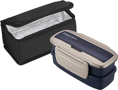オーエスケー メタルモードNo.3 お弁当箱 2段 保冷バッグ付 ゴールド BLW-8HSF