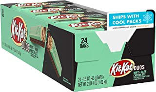 KIT KAT DUOS Dark Chocolate and Mint Wafer Candy, Individually Wrapped, 1.5 oz Bars (24 ct)