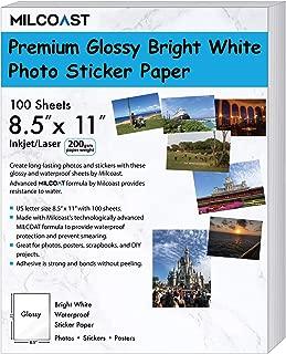 Milcoast Glossy Full Sheet 8.5