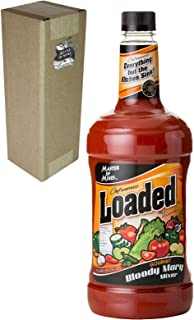 Master of Mixes Loaded Bloody Mary Drink Mix, Ready To Use, 1.75 Liter Bottle (59.2 Fl Oz), Individually Boxed