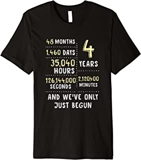 4 Years Anniversary T-Shirt Gift for Her or Him