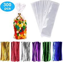 300 Pack Clear Treat Bags Clear Candy Bags 3
