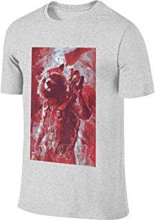 Man Designed Fashion Tees Guardians of The Galaxy Rocket Raccoon T-Shirts