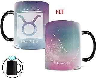 Morphing Mugs Birthday Zodiac Sign (Taurus) Heat Reveal Ceramic Coffee Mug - 11 Ounces Pink