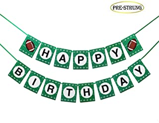 American Football Birthday Banner, Sports Banner Decorations for Kids Boys Girls Baby Show Theme Birthday, Game Day(17pcs Preassembled)