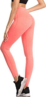 Cadmus High Waist Tummy Control Workout Leggings with Pockets for Womens