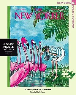 New York Puzzle Company - New Yorker Flamingo Photographer - 500 Piece Jigsaw Puzzle
