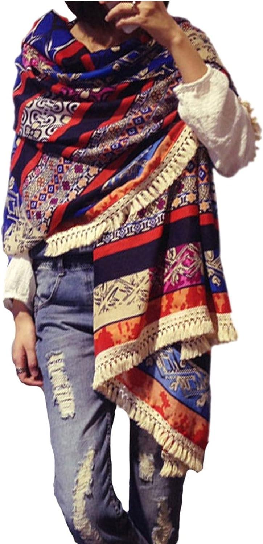 Women's Boho Bohemian Soft Blanket Wraps Fringed Japan Maker Courier shipping free shipping New Scarf Oversized