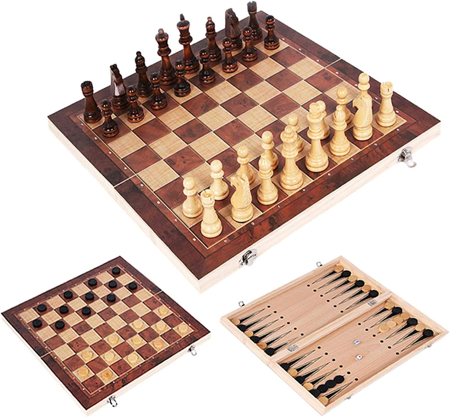 Chess Game 3 in Free Shipping New 1 Set Tr Indoor Checkers Backgammon Award Wooden