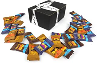 AWAKE Caffeinated Chocolate Bites 3-Flavor Variety: Ten Approximately 0.53 oz Bites Each of Milk, Dark, and Caramel in a BlackTie Box (30 Items Total)