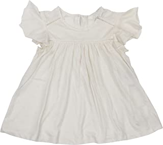 POLO RALPH LAUREN Little Girls Ruffle Front Cotton Blend Top