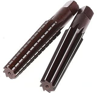 Driak 1 Set MT3 Reamer Set 2PC No.3 Morse Taper Reamer Set MT3 for Power Tools