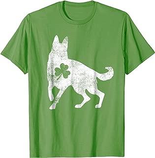 German Shepherd Irish Clover T-Shirt St Patrick Day Dog Gift