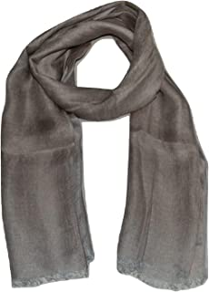 100% PURE LINEN SCARF, TWO TONE TWILL WEAVE, LARGE LINEN SCARF.