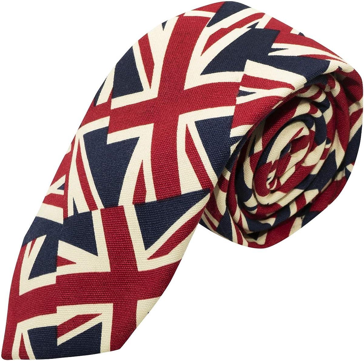 Union Jack Tie, Mens NeckTie, Great Britain, British, UK
