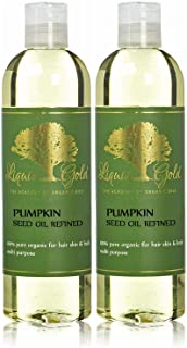24 Fl.oz Liquid Gold Pumpkin Seed Oil Refined 100% Pure & Organic Cold Pressed for Skin Hair and Health