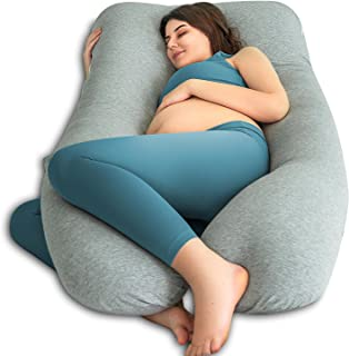 QUEEN ROSE U-Shaped Body Pillow, Pregnancy & Maternity Pillow with Removable and Washable Cover