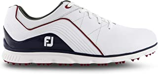 FootJoy Men's 2019 Pro/SL Golf Shoes (10.5, White/Navy/Red)
