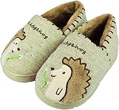 RliliR Ever Toddler Little Kids Hedgehog Slippers with Non-Slip Hard Sole Indoor Outdoor Slippers