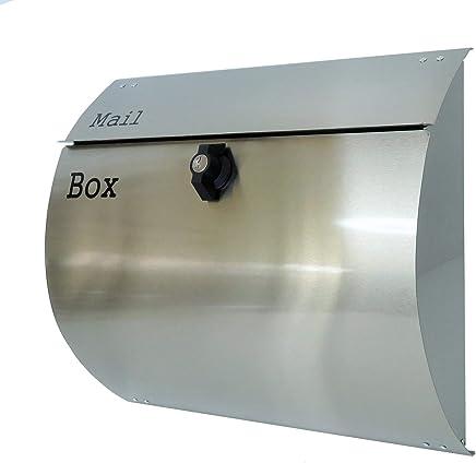 おしゃれな郵便ポスト郵便受けmailbox大型プレミアムステンレス シルバーステンレス色ポストpm062-1