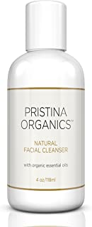 Pristina Organics Facial Cleanser with Organic Ingredients | Natural Face Wash | No Sulfates | No Parabens