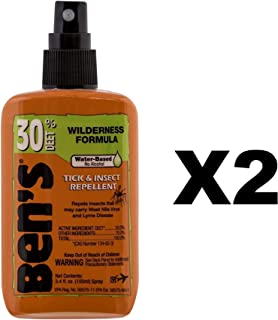 Ben's Tick & Insect Repellent 30% Deet, Orange, 3.4 Ounce (2 Pack)