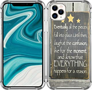 Case for iPhone 12 Words Motivational - Bumper Compatible with iPhone 12 [12 Pro] 5G 6.1 Inches [Life Eventually All The P...