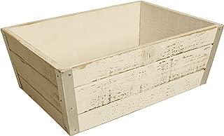 Wald Imports Whitewash Wood Decorative Crate/Planter
