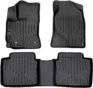 SMARTLINER Floor Mats 2 Row Liner Set Black for 2014-2019 Toyota Corolla Automatic Transmission (No iM Hatchback Models)