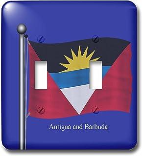 3dRose LSP_63226_2 - Interruptor doble de fondo azul con la bandera de Antigua y Barbuda