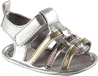 Luvable Friends Girl's Metallic Sandal (Infant)