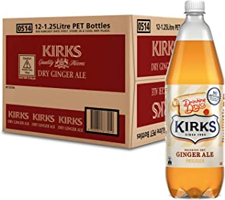 Kirks Drinking Dry Ginger Ale 12 x 1.25L