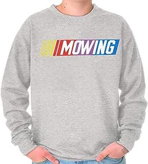 Brisco Brands Mowing Dad Car Race Fathers Day Racing Gift Crewneck Sweatshirt
