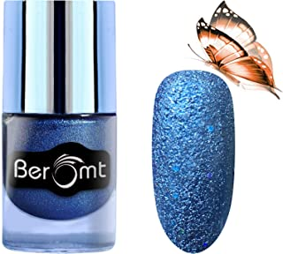 Beromt Premium Sand Matte Nail Polish, Color Crush, Show Bright Sparks, Extra Shine 7 Day Stay, Blue,609, 10 ml