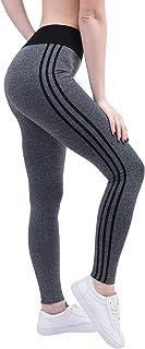 KINDOYO Women's Side Stripe Slimming Yoga Leggings ,Pilates Pants,Elasticity Trouser