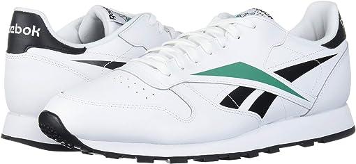 White/Black/Emerald